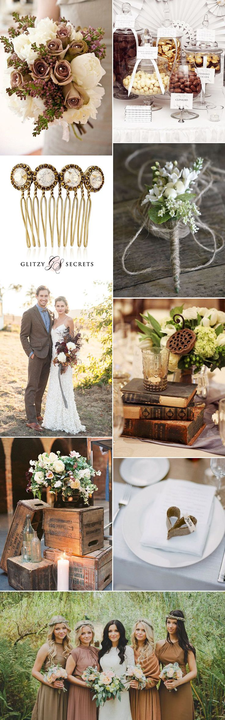 Gorgeous coffee and creams make a wonderful wedding color theme. Explore stunning ideas for a dreamy wedding scheme from brown wedding shoes to pretty cream bouquets