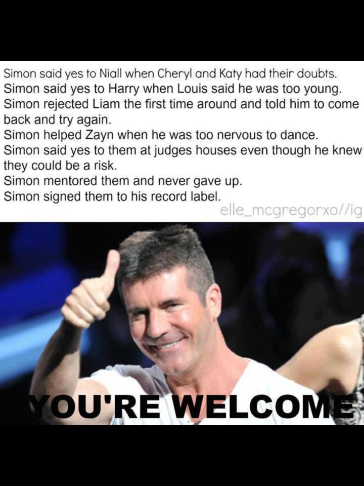 Thank you Uncle Simon (: Directioners love you so much ❤