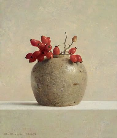 ZsaZsa Bellagio: House Beautiful, Henk Helmantel: Ginger Pot with Rose Hips