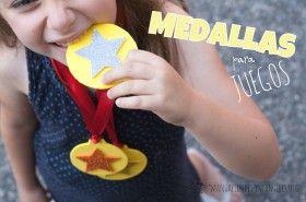 medallas para niños. Cómo hacer #Medallas de premio de #GomaEva para una fiesta o un campeonato de fin de curso.
