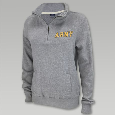 Army Ladies 1/4 Zip Sweatshirt
