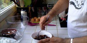 La mousse aux chocolats noir et blanc