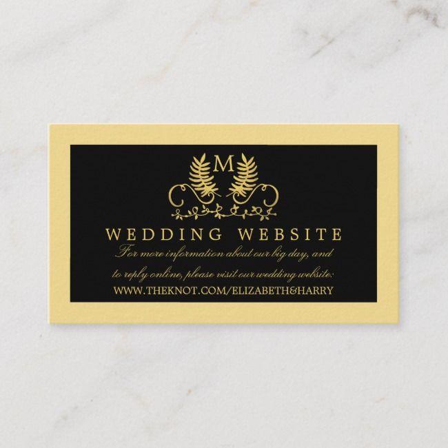 Create Your Own Enclosure Card Zazzle Com Wedding Website Card Wedding Website Enclosure Cards