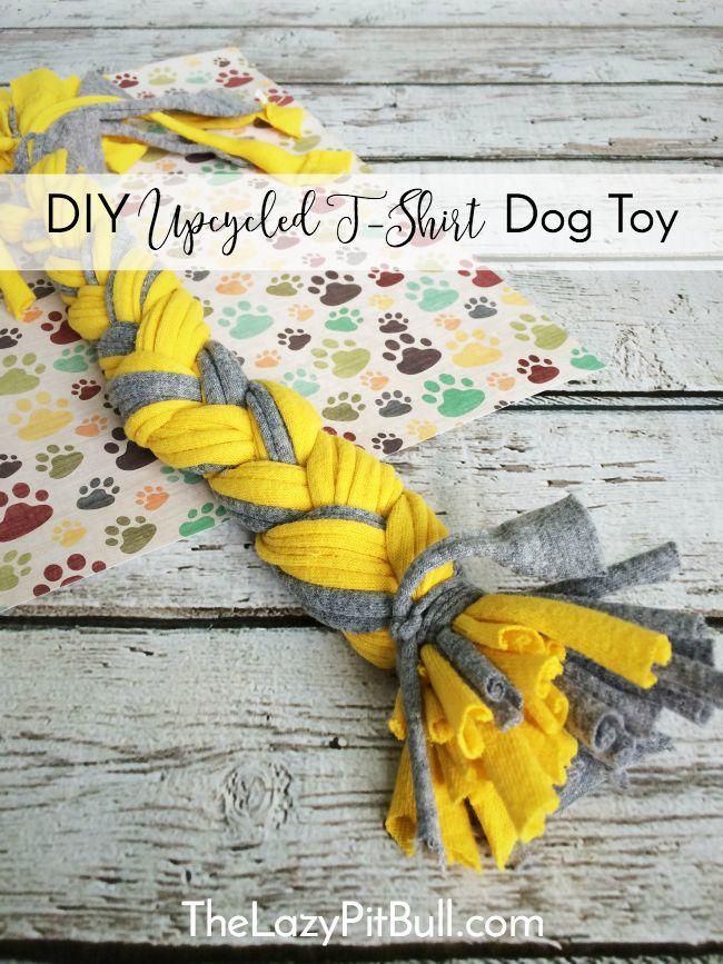 Juguete para perros DIY T-Shirt reciclado