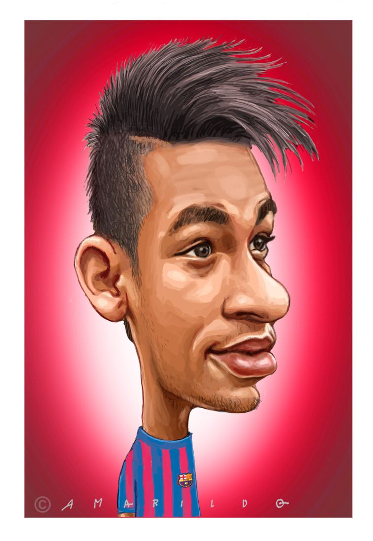 Neymar Caricatura Barcelona