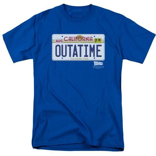 Back To The Future Outatime Plate Men S Regular Fit T Shirt In