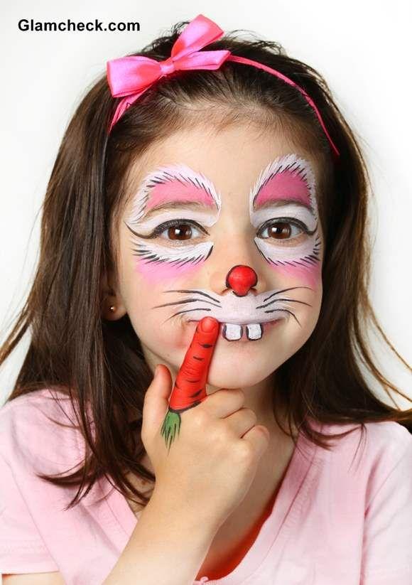 Halloween costume makeup for kids -Bunny