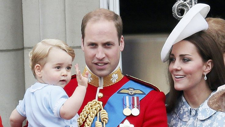 Duchess Kate, Prince WIlliam and Prince George appeared together at the Trooping the Colour parade, honoring the queen's birthday.