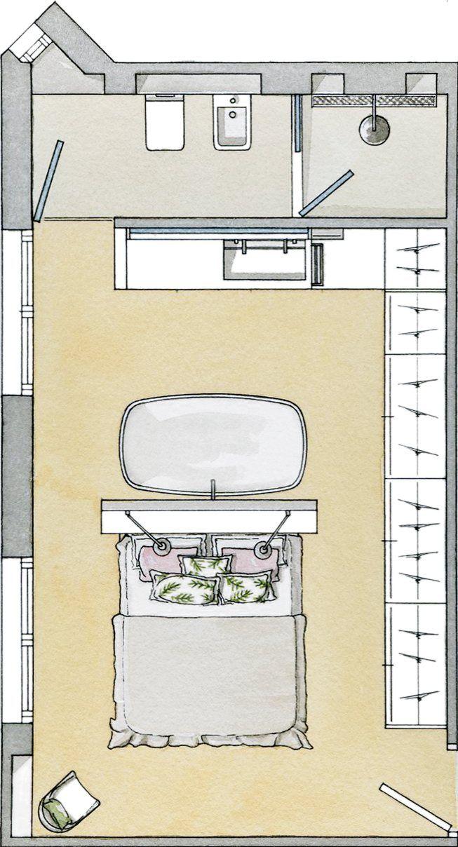 Un baño tras el cabecero · ElMueble.com · Cocinas y baños