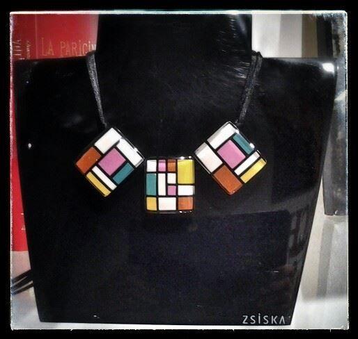 Collana ZSISKA collezione Homage. La collezione Homage è un omaggio a Mondrian.