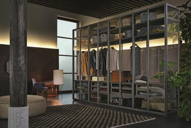 POLIFORM: Senzafine Capri wardrobe, Ego walk-in, Ventura small armchair and Elise pouf