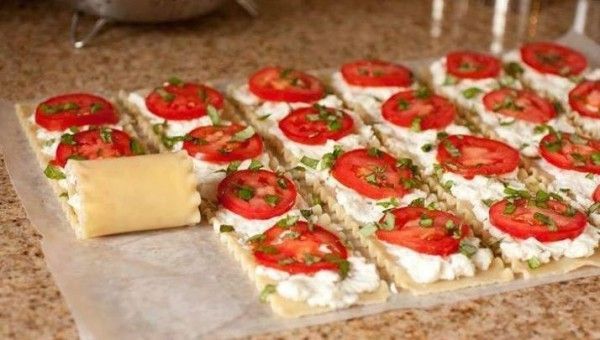 Caprese Lasagna Roll Up - use ww pasta and ff ricotta - simply filling  core - weight watchers