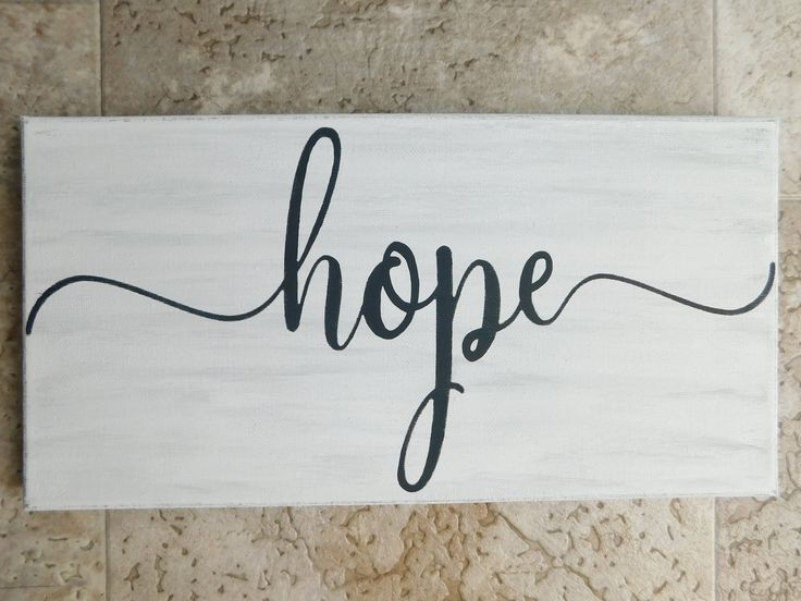 Hope Canvas Sign | Words on Canvas | Rustic Looking Canvas Sign | Canvas Sign | Hope Sign | Farmhouse Decor | Inspiring Canvas Sign by NewStageDesigns on Etsy