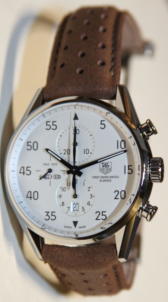 Tag Heuer Carrera Calibre 1887 SpaceX Chronograph Watch Hands On