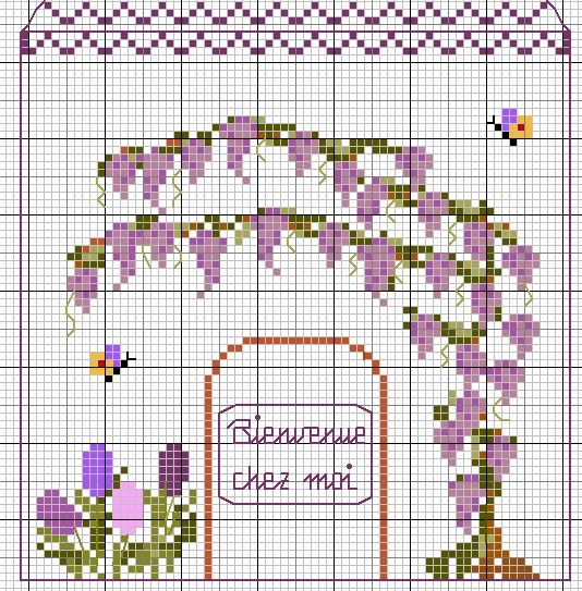 Igolkin Area / The Needle Nook: Scheme house / The House Patterns wisteria