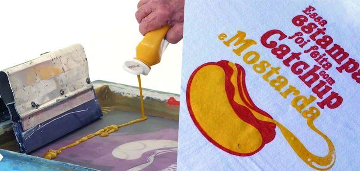 Une laverie automatique personnalise des t-shirts avec des sauces salissantes