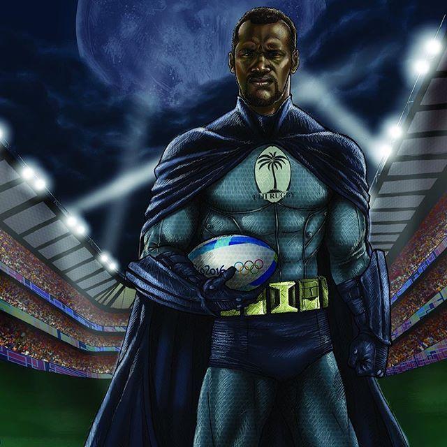 The @olympics flag bearer for Fiji, #rugby sevens star Osea Kolinisau!