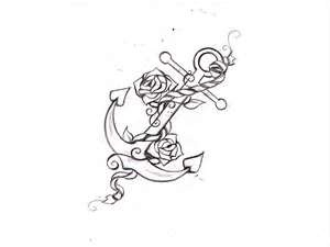 Free Designs Anchor With Roses Tattoo Wallpaper