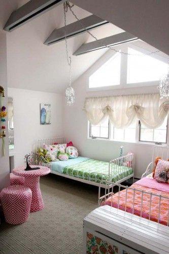chambres, décoration, décorer, deux, enfants, idées, installer