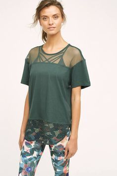 Adidas By Stella Mccartney Adidas by Stella McCartney Mesh Tee Workout Clothes | Fitness Apparel | Gym Clothes | Yoga Clothes | Shop @ FitnessApparelExpress.com