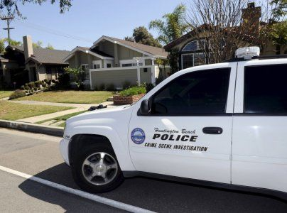 Huntington Beach police Crime Scene Investigator vehicle is seen at the family home of Denise Huskins in Huntington Beach, California March 25, 2015. Denise Huskins, 30, was reported to have been forcibly taken from her boyfriend's home in the East Bay city of Vallejo on Monday, and her boyfriend told authorities there had been a demand for ransom, police said on Tuesday. On Wednesday, Huskins turned up in the Orange County coastal town of Huntington Beach, about 35 miles south of Los…