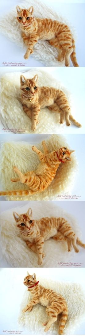 Felted cat by Mirii Kirino (Japan)