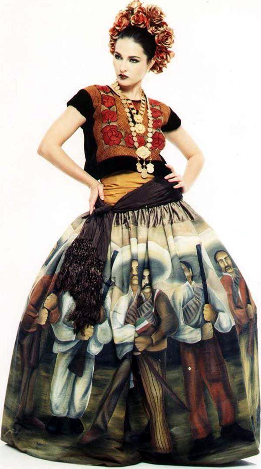 trajes de mexico tipicos   popularizó mundialmente Frida Kahlo siendo uno de los trajes típicos ...