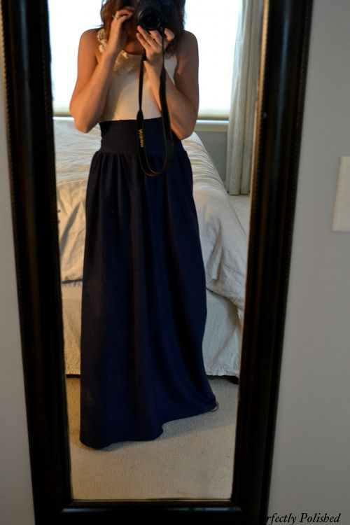 DIY maxi-dress- love this!!  hmm mom could we do it with out attaching it to a shirt and instead add a zipper???