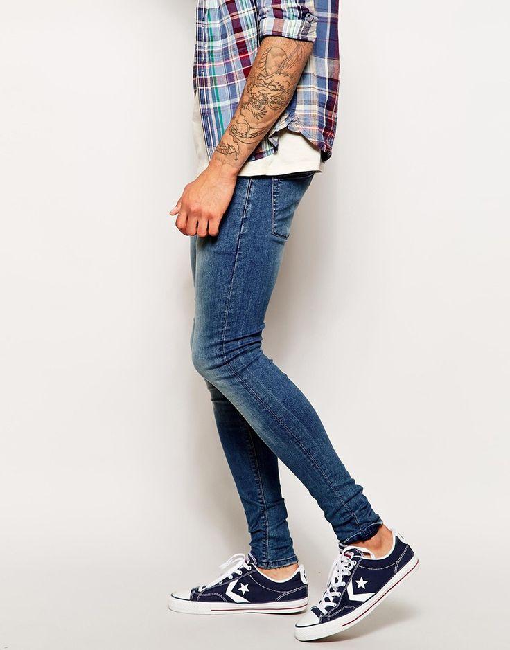 ASOS | ASOS Extreme Super Skinny Jeans In Mid Wash at ASOS