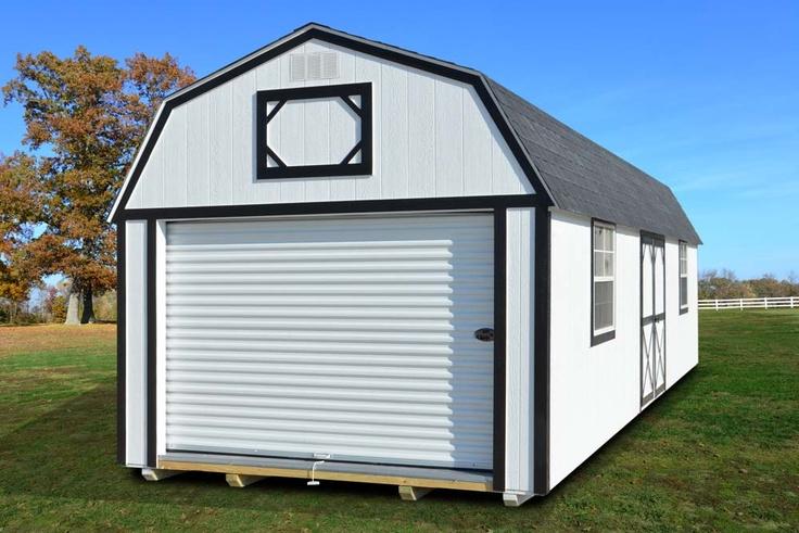 Painted Lofted Garage Derksen Portable Buildings