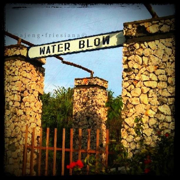 Water Blow Gate. Nusa Dua, Bali, Indonesia.