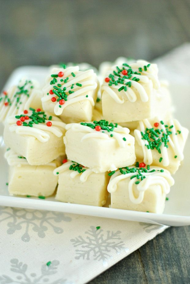 This Vanilla Bean fudge has only 3 ingredients and is as easy to make as it is gorgeous! Add it to your holiday cookie plate or serve it at a party.