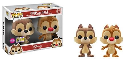 Our Disney SDCC exclusives sure cover a lot of ground!We have some new characters from cartoons, movies, and Disney Parks!Plus, check out some fun versions of familiar faces, like flocked or glow-in-the-dark!  Pop! Disney: Chip & Dale 2-pack (Flocked)  Pop! Disney: Winnie the Pooh – Bouncing Tigger (Flocked)  Pop! Disney: Mr. Toad's Wild Ride – Mr. Toad (15...