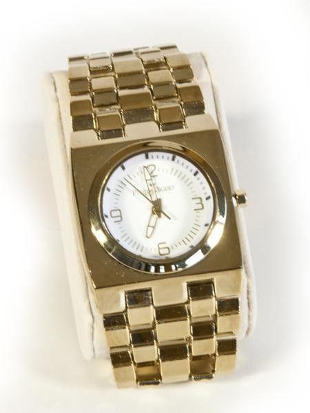 Reloj señora dorado esfera cuadrada