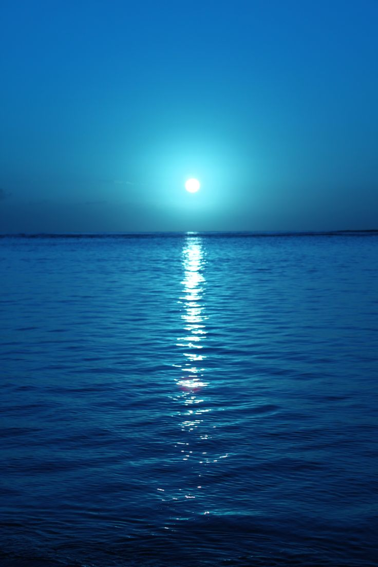 . . . simplicity . . . sunrise . . . blue skies . . . reflections of blue water . . . Kahala Beach, Honolulu, Hawaii.