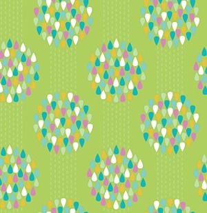 Raindrops in Celery / Summersault / Erin McMorris for Free Spirit