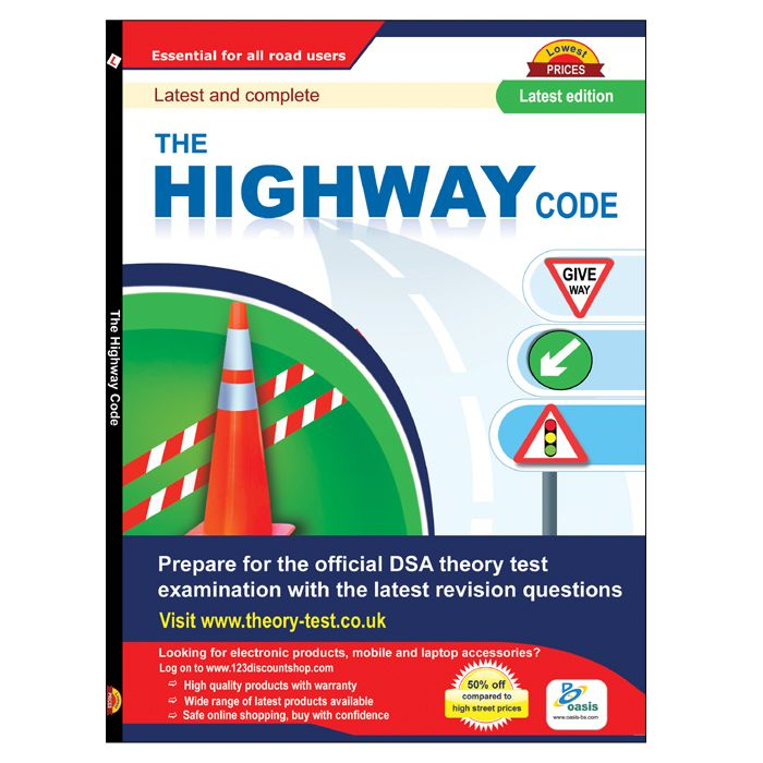 The Highway code rules book for UK drivers. This book contains all UK road rules, signs and signals that help to learner drivers top pass the driving test.