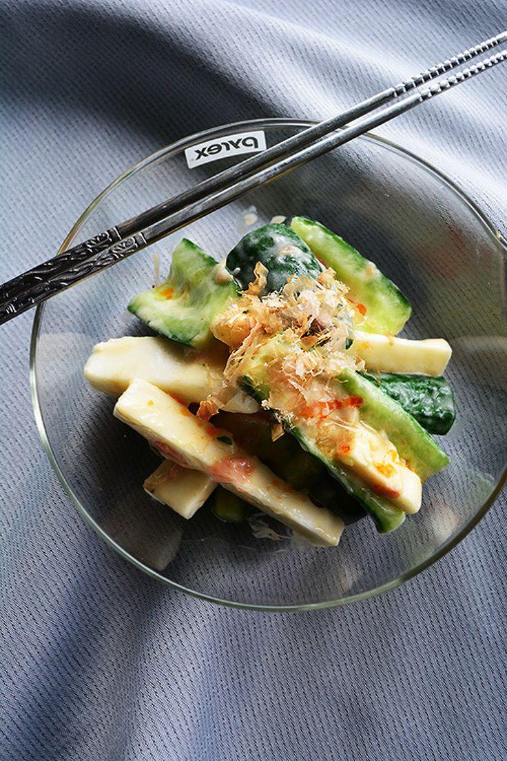 あともう一品に3分副菜  キュウリと長芋のごま梅おかか by 青山清美(金魚) | レシピサイト「Nadia | ナディア」プロの料理を無料で検索