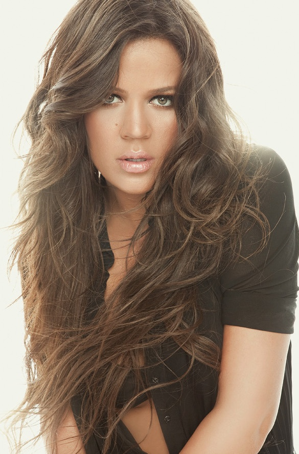 Khole Kardashian- I would die to have her hair!i want her hair so bad