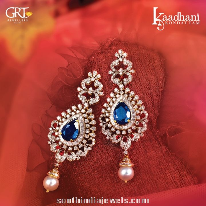 solitaire earrings designs from GRT Jewellers