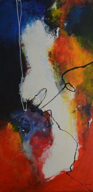 No.16 Kleurige moderne abstracte schilderijen, acrylverf op doek zonder lijst. Prijzen varieren tussen de 50 en  195 euro. Voor meer informatie neem contact op met schilderijen.Fenny@gmail.com