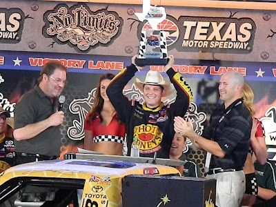 Redemption! Johnny Sauter wins at Texas - by Lisa Janine Cloud - Photo by Lisa Janine Cloud for Skirts and Scuffs