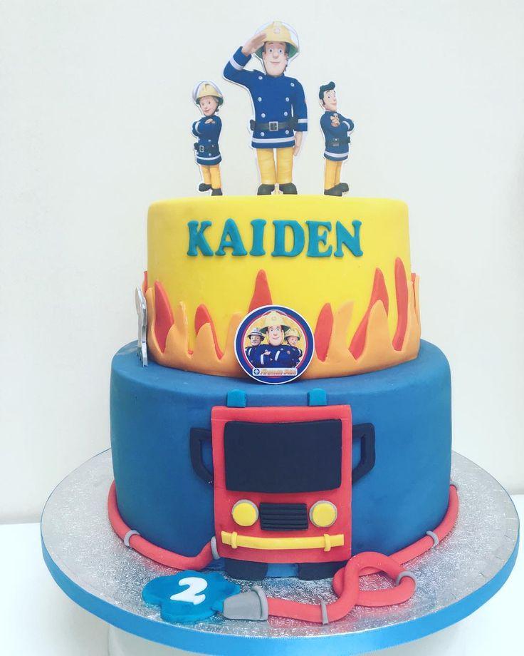 Fireman Sam cake  Hope you like it! #firemansam #firemansamcake #celebrationcake #glasgowbaker #kakekaren #instacake #cake #cakesofig #cakestagram #cakesofinsta #cakesofinstagram
