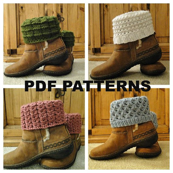 PDF PATTERNS Knit Boot Cuff Leg Warmer 4 by karensstitchnitch, $14.00