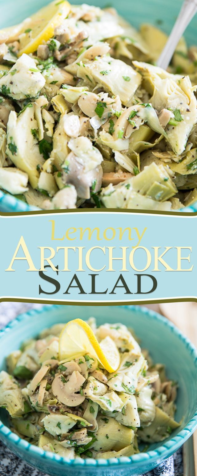 This Lemony Artichoke Salad is probably the easiest thing that will ever come out of your kitchen, yet it's so good, you'll want to make it every day!