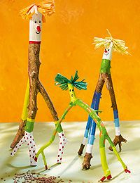 Cute branch characters :) #kids #easy #simple #DIY #recycle #decore #craft