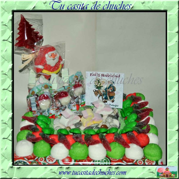 Tarta chuches Papa Noel. Disponible en www.tucasitadechuches.com