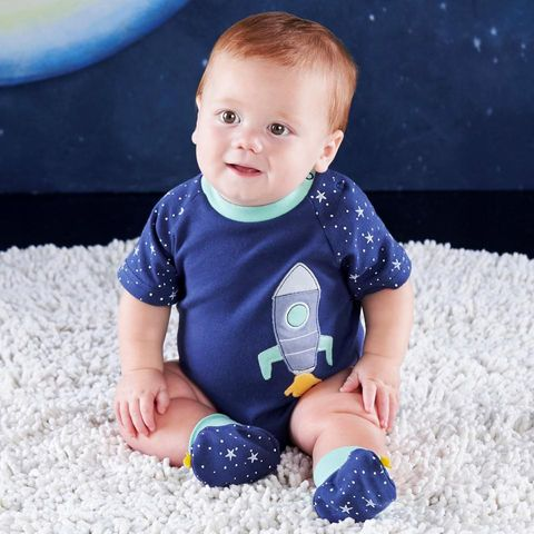 Baby Aspen Cosmo Tot Spaceship 2 Piece Layette Set