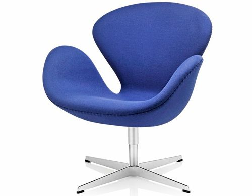 arne jacobsen swan chair  Design Arne Jacobsen, 1958  Aluminum, foam, upholstery  Made in Denmark by Fritz Hansen