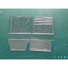 leather tools leather short wallet pattern leather bag mould Acrylic leathercraft tools leather craft tools